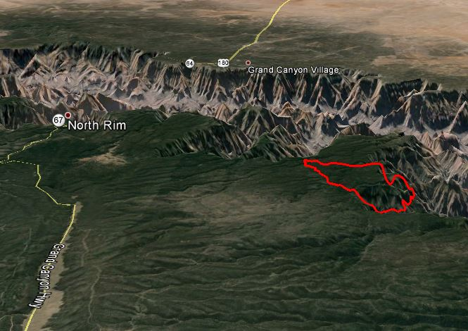 map of the Galahad Fire