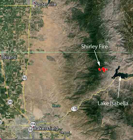 map Shirley Fire
