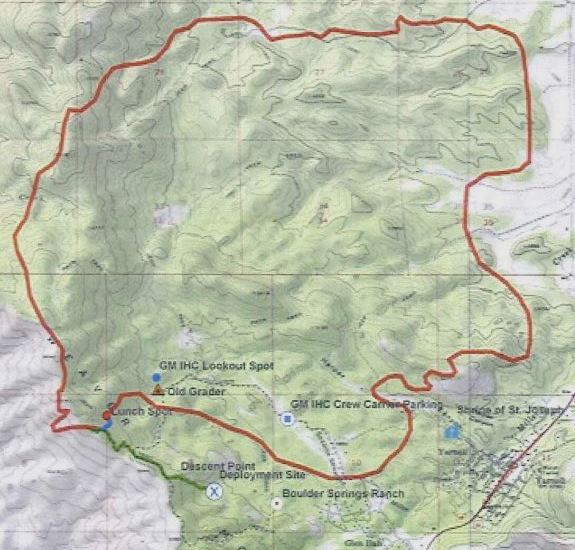 Yarnell Hill Fire, estimated perimeter at 4:30 p.m. June 30, 2014