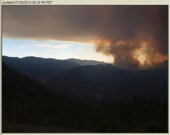 El Portal Fire from camera at Turtleback Dome