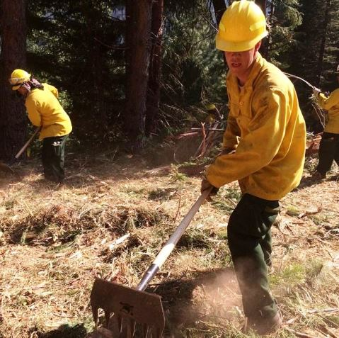 California National Guard construct fire line