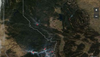 Updated satellite photo of wildfires in Western Montana and