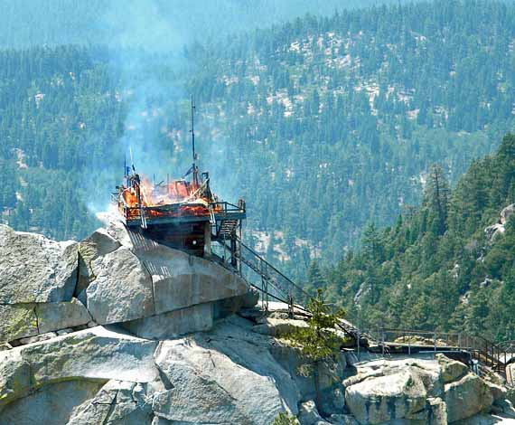 Needles Lookout burning
