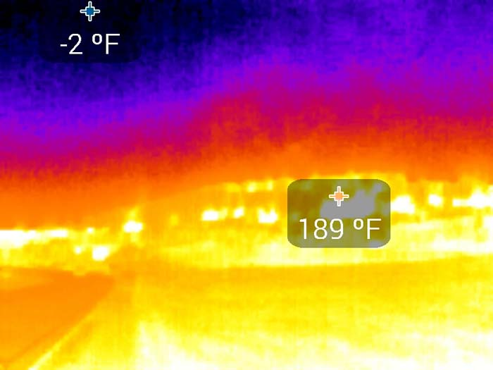 thermal IR image of prescribed fire.