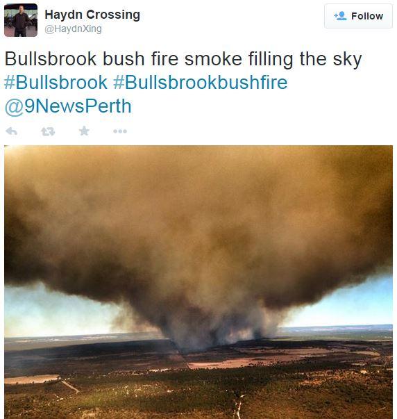Bullsbrook fire smoke