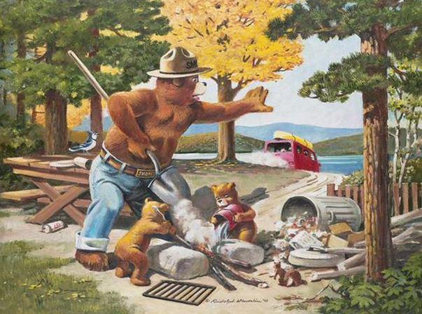 Smokey Bear poster 1990s