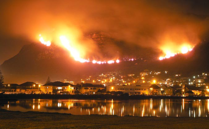 Muizenberg Fire in South Africa