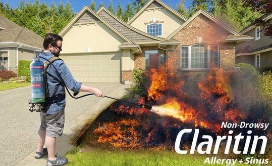 Fire cures allergy season Claritin