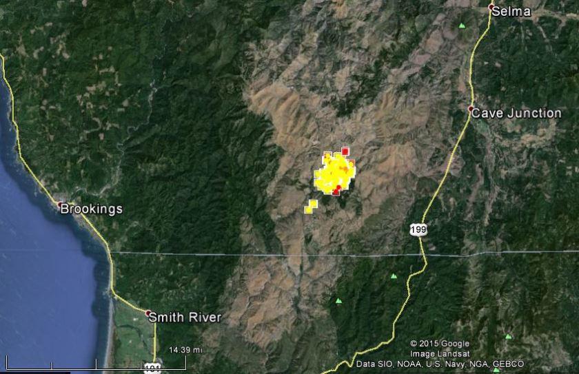 Map of Buckskin Fire