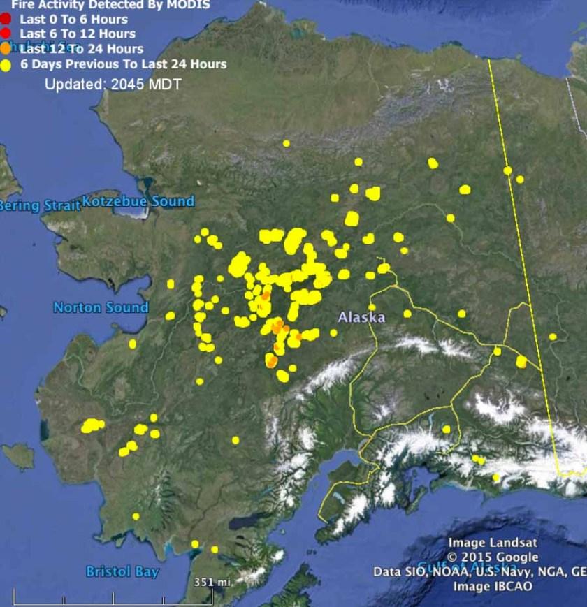 Alaska Fires July 8, 2015
