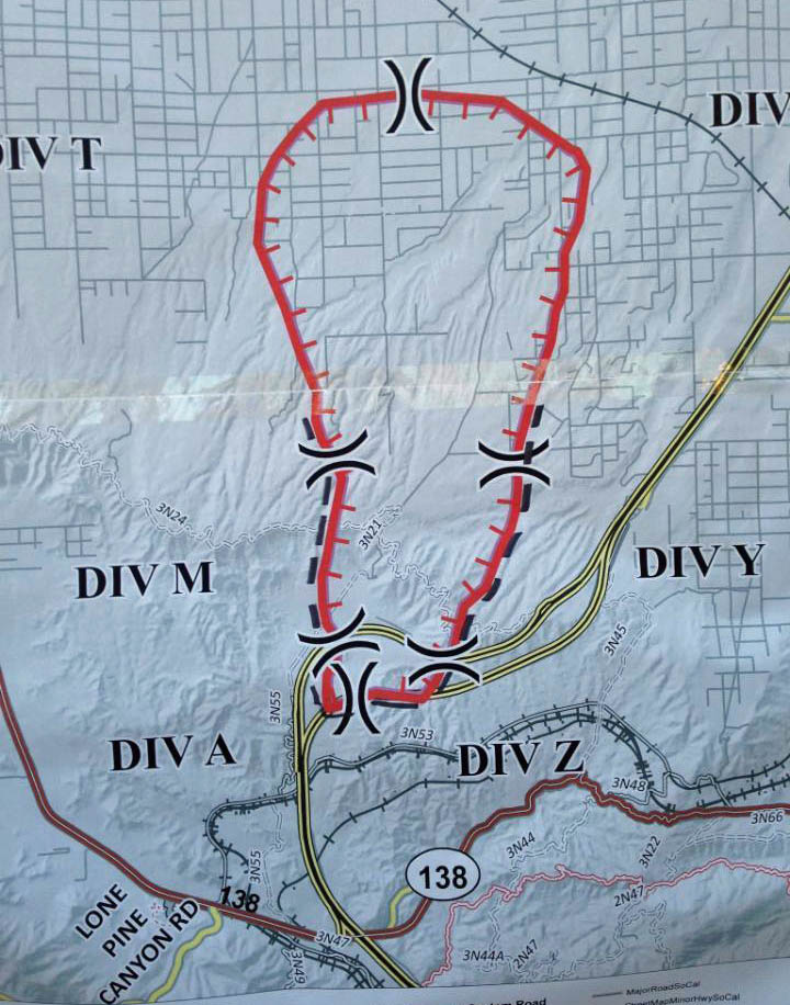 Map of North Fire July 18, 2015