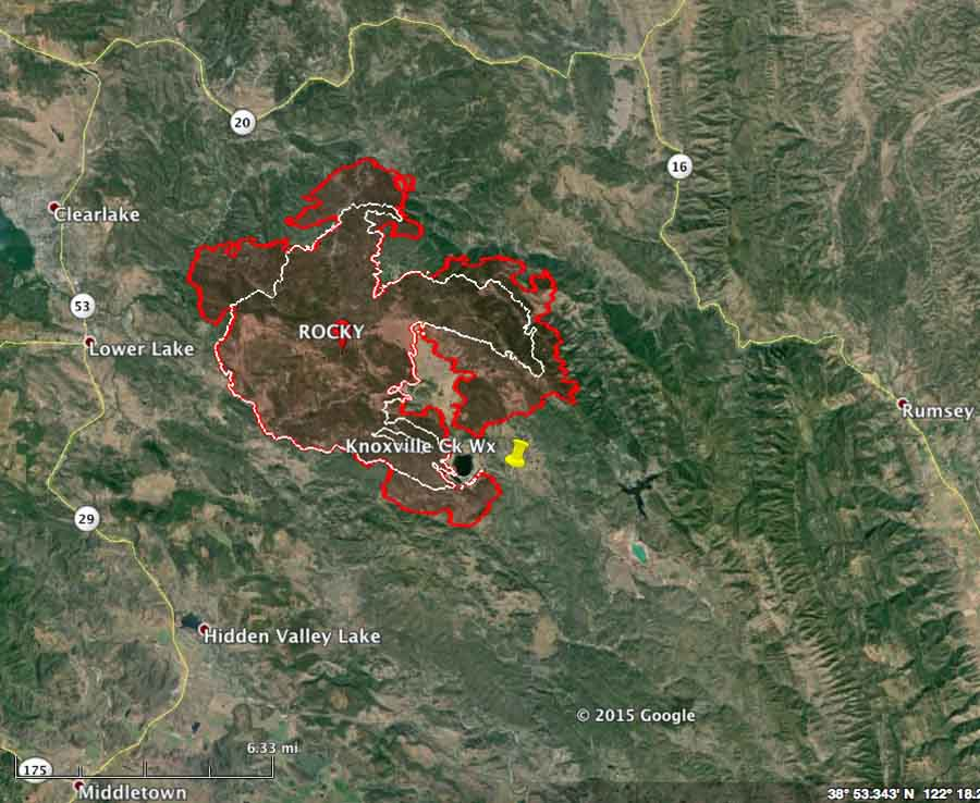 Rocky Fire Near Clearlake Ca Burns Thousands Of Acres In First 5