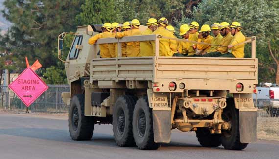 National Guard In Cargo Truck