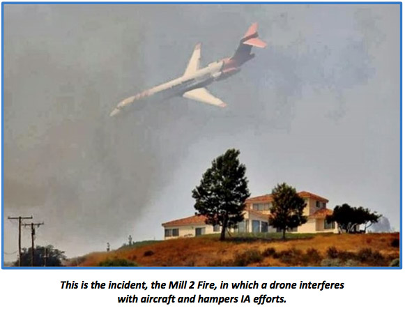 md-87 air tanker Mill 2 Fire