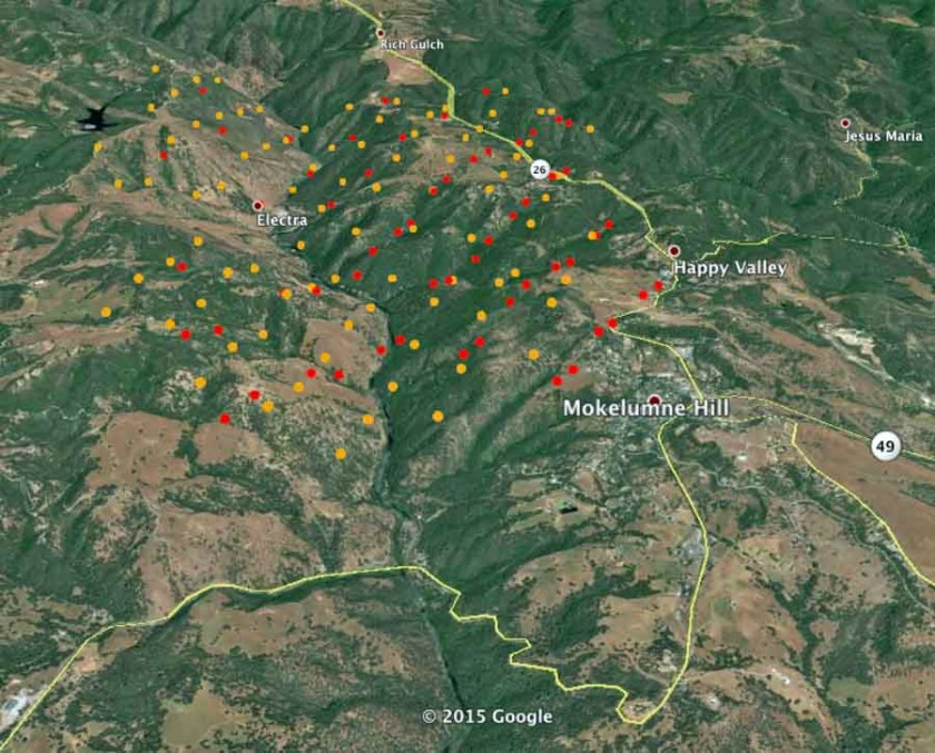 3-D Map Butte Fire