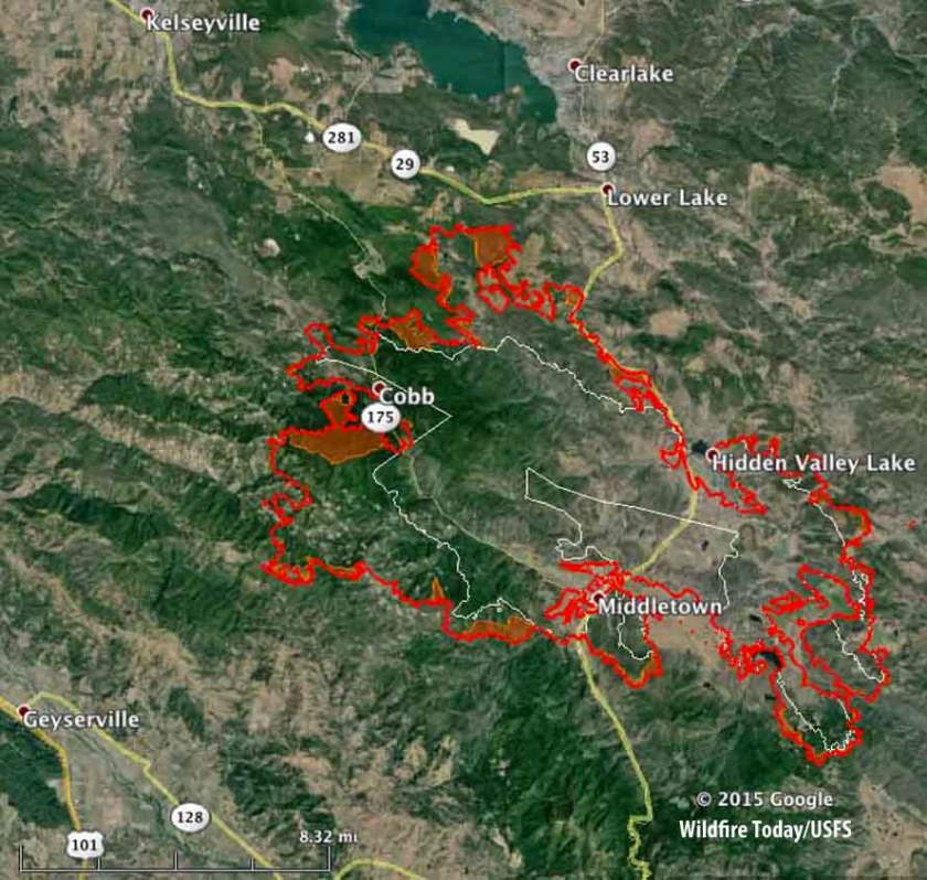 map valley fire