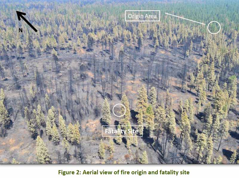 Frog Fire fatality site photo