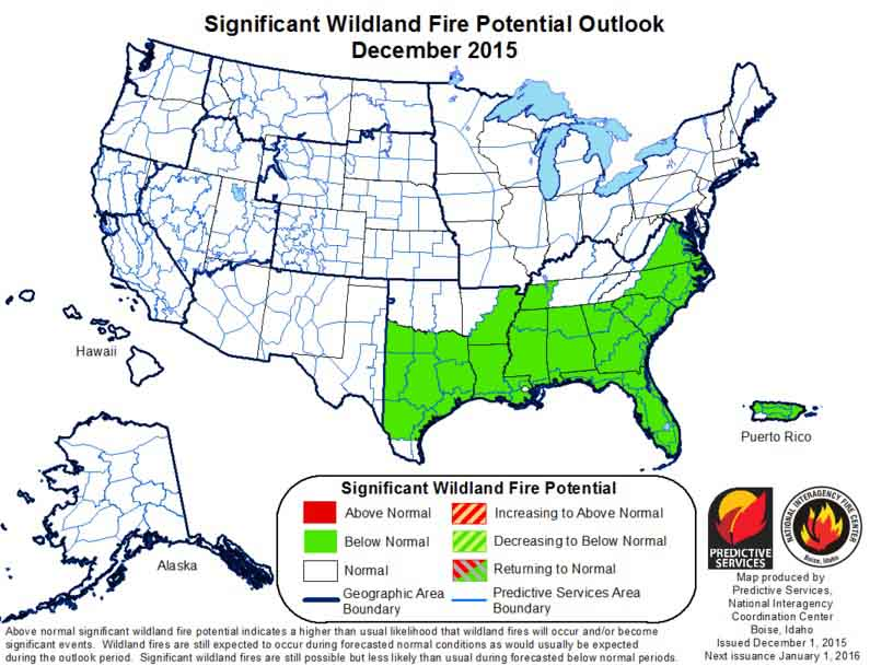 December wildfire 2015 Outlook