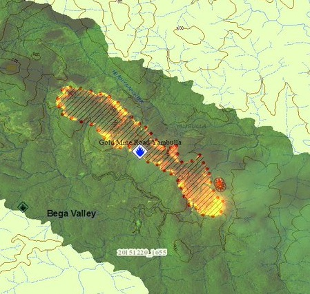 Gold Mine Road Fire,