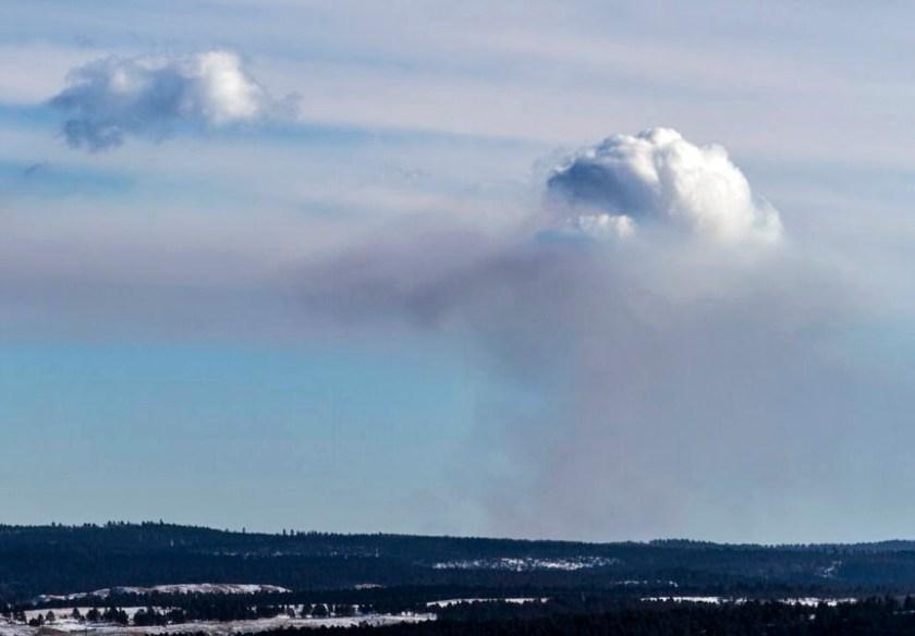 Sundance pile burn pyrocumulus Dave Porter