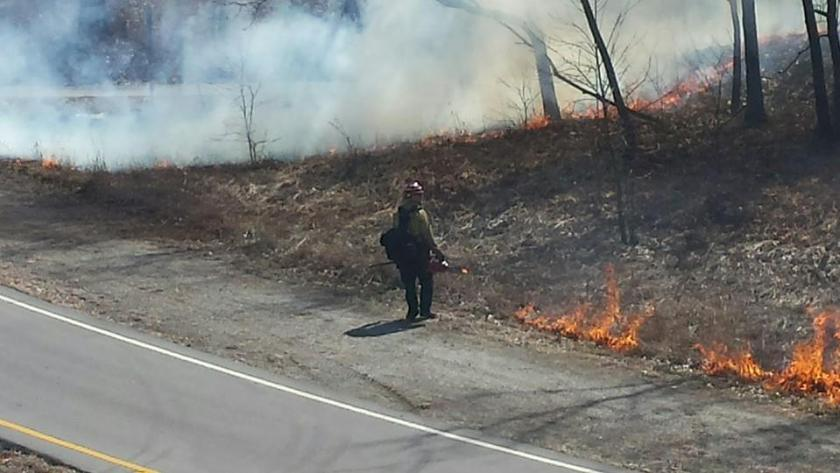 Indiana Dunes National Lakeshore prescribed fire