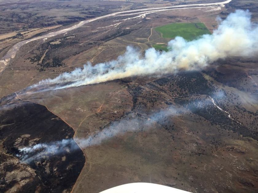 350 Complex of fires