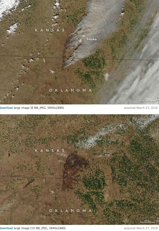 Anderson Creek Fire satellite photo