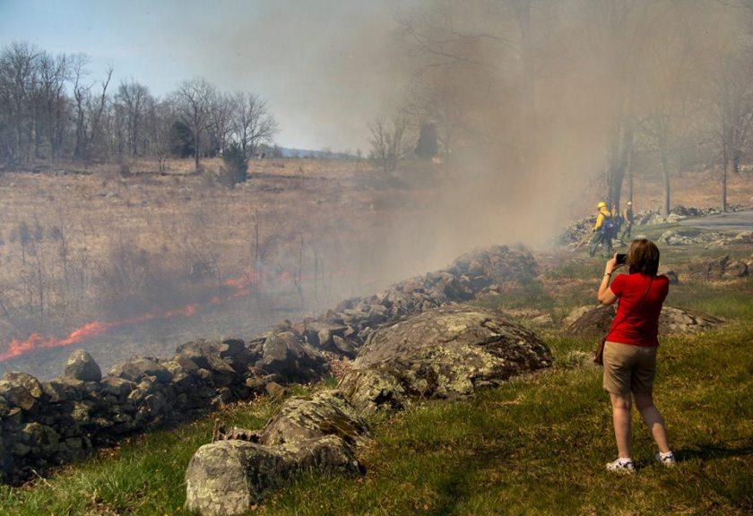 Gettysburg NMP prescribed fire