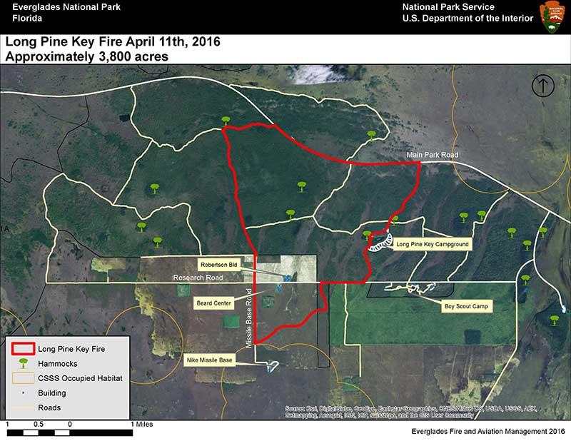 map Long Pine Key Fire