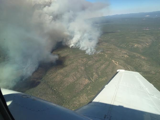 Aerial view Cedar Fire
