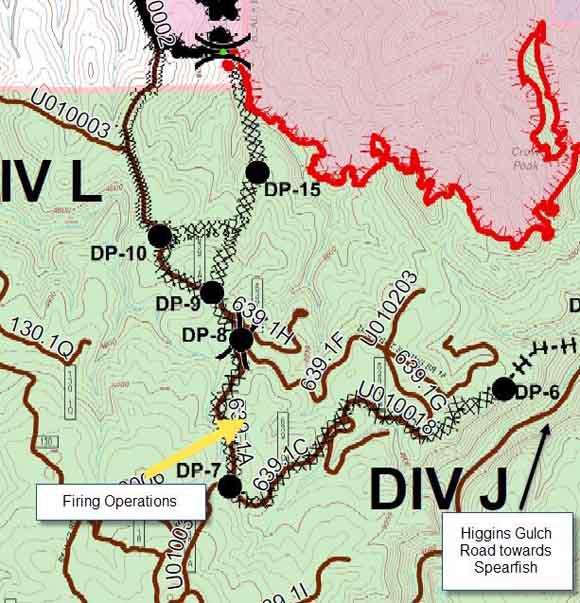 Map Crow Peak Fire