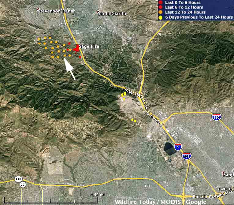 Santa Clarita Brush Fire Map.Wildfire Today Page 271 Of 1375 News And Opinion About Wildland Fire
