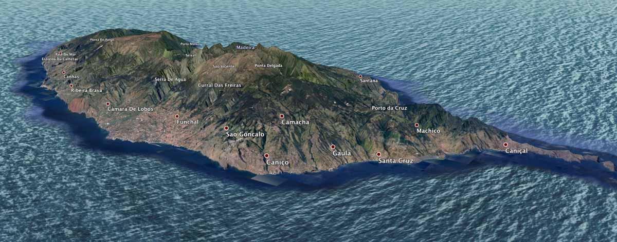 Map of Madeira