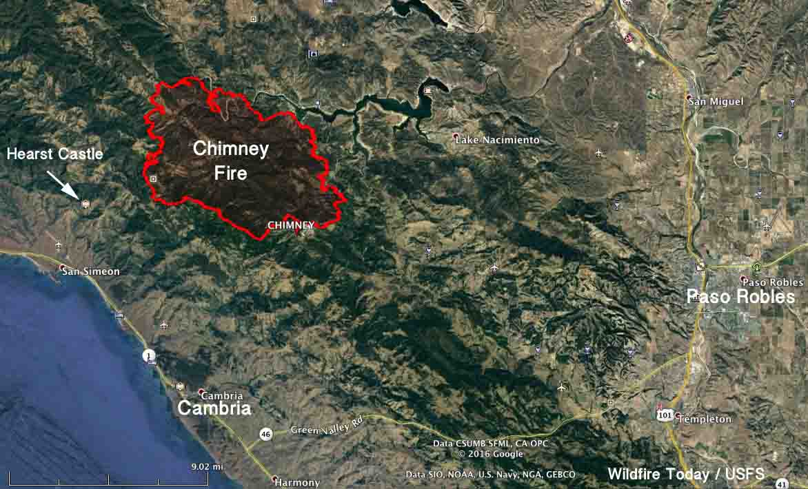 Hearst Castle California Map.Chimney Fire Archives Wildfire Today