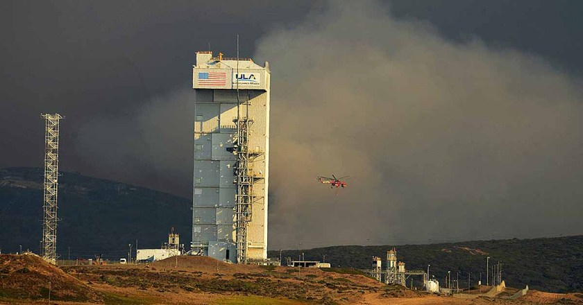 Canyon Fire on Vandenberg Air Force Base