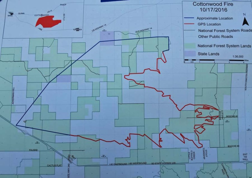 map cottonwood fire