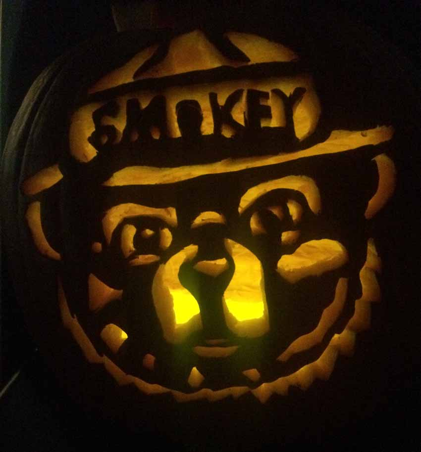 Smokey Bear Jack O'Lanterns, 2016