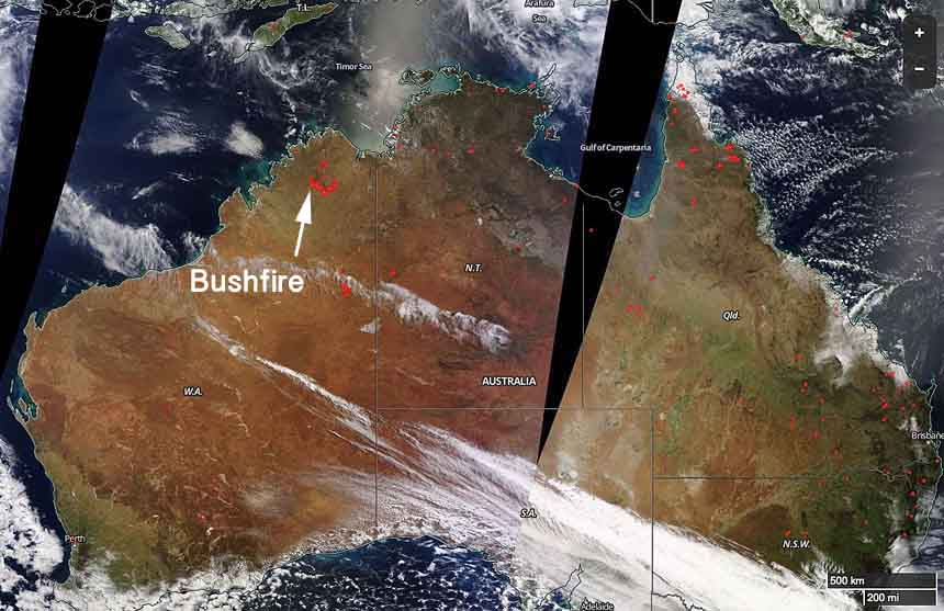 Bushfire in Western Australia burns millions of acres
