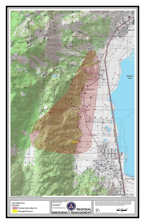 Little Valley Fire map