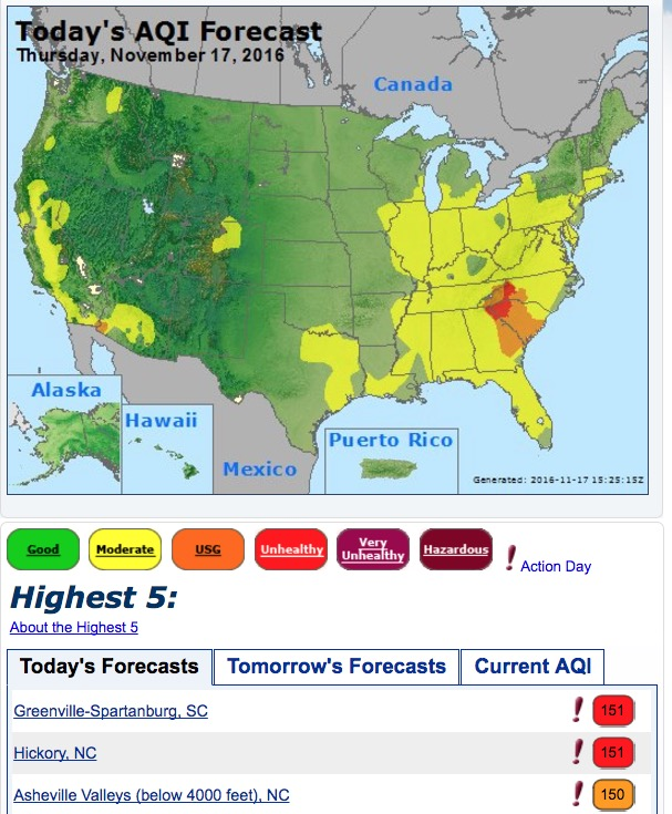 air quality index wildfire smoke