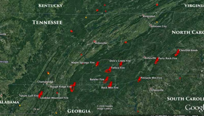 Show Map Of Georgia.Heavy Wildfire Activity Continues In North Carolina And Georgia