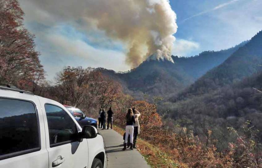 wildfire Great Smoky Mountains National Park