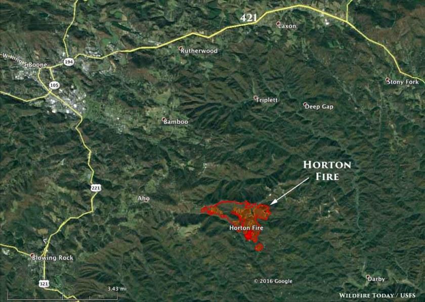 map Horton Fire