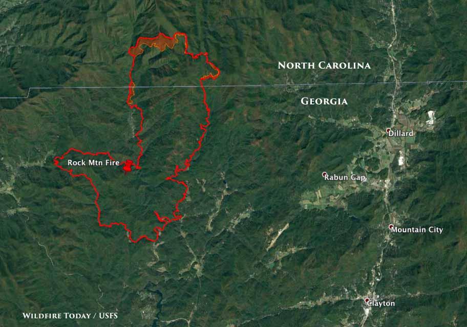 North Carolina Wildfire Map.North Carolina Archives Wildfire Today