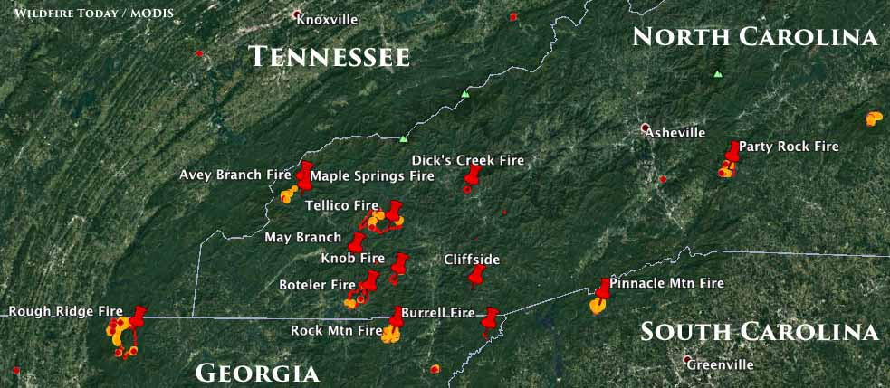 Tennessee And North Carolina Receiving The Worst Of The Smoke On