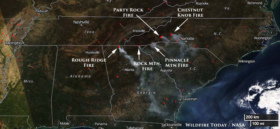 Wildfire smoke forecast for November 17, 2016