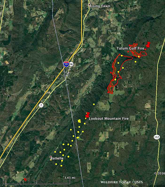 map Tatum Gulf fire