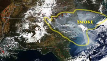 Wildfire Smoke In The Southeast United States Wildfire Today - Wildfires map in southeastern us