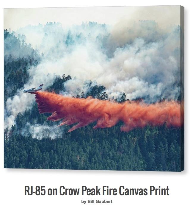 RJ-85 Crow Peak Fire