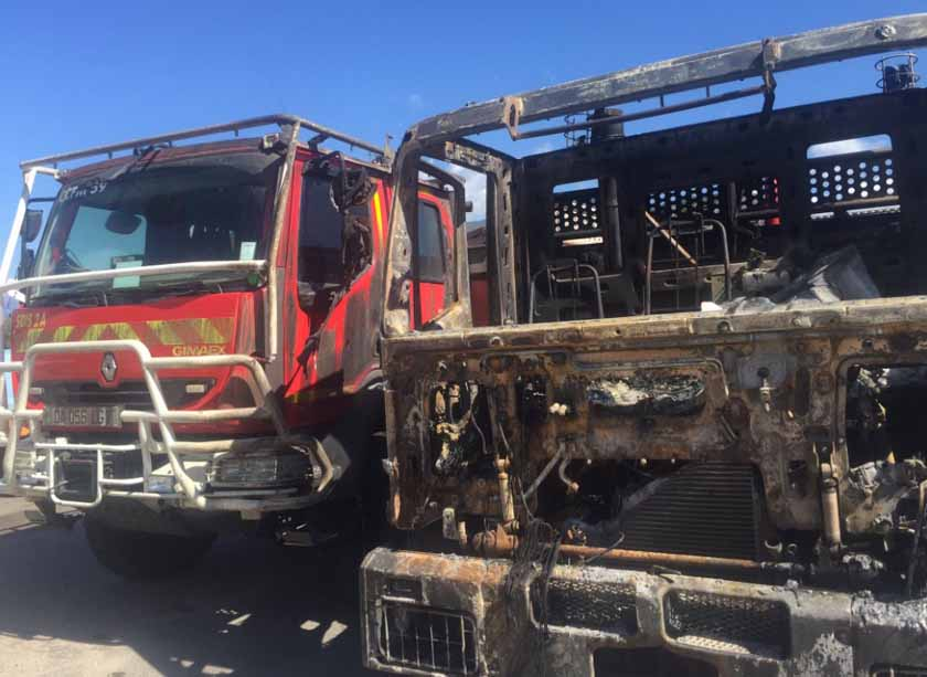 Five Corsica firefighters entrapped and injured